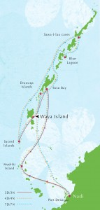 Blue Lagoon Cruise Itinerary Map